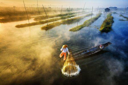 voyage sur le lac Inle en Birmanie