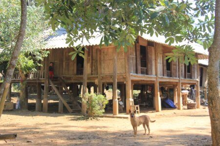 A stilt house of Muong people